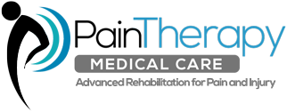 Pain therapy care logo