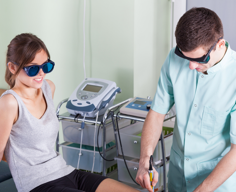treat with laser therapy